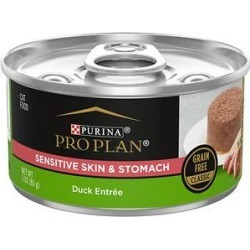 Purina Pro Plan Focus Sensitive Skin & Stomach Classic Duck Grain-Free Entree Canned Cat Food, 3-oz, case of 24