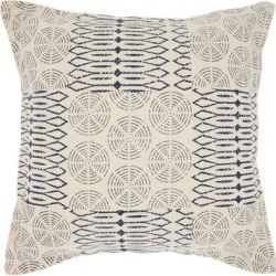 Porch & Den Potts Circle Patch 20-inch Throw Pillow found on Bargain Bro from Overstock for USD $23.08