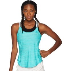 adidas Women's Performer X-Back Keyhole Tank Top, Hi-res Aqua, XL (Blue - XL)(polyester) found on Bargain Bro India from Overstock for $22.00