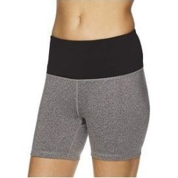 Reebok Womens Fitted Highrise Athletic Compression Shorts (Gray - Large), Women's(polyester) found on Bargain Bro Philippines from Overstock for $27.13