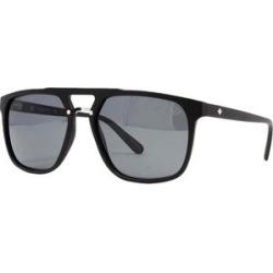 Sperry Men's Sunglasses Grey - Matte Black Polarized Titan Modified Aviator Sunglasses found on Bargain Bro from zulily.com for USD $22.79