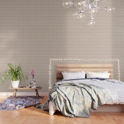Diamond Dots In Tan Peel And Stick Wallpaper by Becky Bailey - 2' X 8' found on Bargain Bro India from Society6 for $69.30
