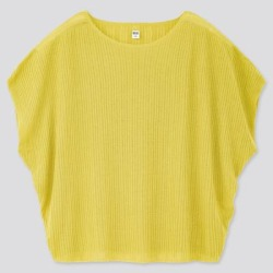 UNIQLO Women's Lacy Boat Neck Short-Sleeve Sweater, Yellow, XXS found on Bargain Bro Philippines from Uniqlo for $9.90