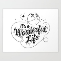 It's A Wonderful Life - Title Art Print by Graphics By Hand - X-Small