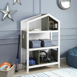 Isabelle & Max™ Bookcase In White & Pink 92560Wood in Gray, Size 50.0 H x 33.0 W x 14.0 D in | Wayfair 5766FD79D6F64C878ED4C28504099C69 found on Bargain Bro Philippines from Wayfair for $649.99