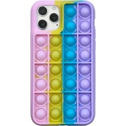Shou Cellular Phone Cases Pink - Pink & Purple Rainbow Silicone Smartphone Case found on Bargain Bro Philippines from zulily.com for $9.99