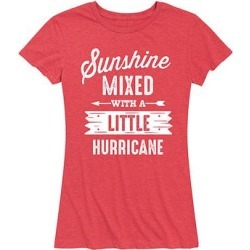 Instant Message Women's Women's Tee Shirts HEATHER - Heather Red 'Little Hurricane' Relaxed-Fit Tee - Women & Plus