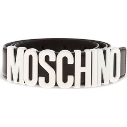 Logo Belt - Black - Moschino Belts found on Bargain Bro from lyst.com for USD $248.52