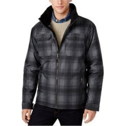 Free Country Mens Plaid Canvas Utility Parka Coat (Medium), Men's, Black found on MODAPINS from Overstock for USD $98.99