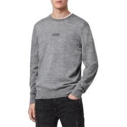 Merino Wool Crewneck Sweater - Gray - AllSaints Knitwear found on Bargain Bro from lyst.com for USD $117.80