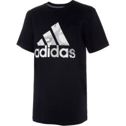 adidas Boys' Tee Shirts BLACK - Black Action Camo Logo Tee - Boys found on Bargain Bro India from zulily.com for $15.99