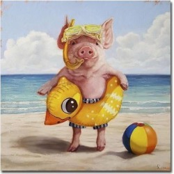 Baked Ham by Lucia Heffernan Gallery Wrapped Canvas Giclee Art (18 in x 18 in) found on Bargain Bro Philippines from Overstock for $146.49