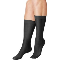 Plus Size Women's 3-Pack Knee-High Compression Socks by Comfort Choice in Black (Size 1X) found on Bargain Bro Philippines from Ellos for $11.99