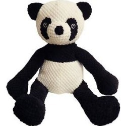 Fab Dog Floppy Panda Squeaky Plush Dog Toy, Large