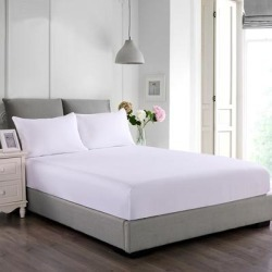 Nanofiber Microfiber Stain & Water Resistant Fitted Mattress and Bed Pillow Protector Set - White (Twin - Mattress Protector) found on Bargain Bro from Overstock for USD $35.01