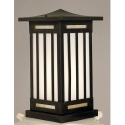Arroyo Craftsman Himeji 16 Inch Tall 1 Light Outdoor Pier Lamp - HIC-9-F-MB found on Bargain Bro from Capitol Lighting for USD $375.44