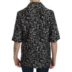 Dolce & Gabbana Black Musical Instrument Print Silk Women's Top (it36-xxs) found on Bargain Bro India from Overstock for $365.00