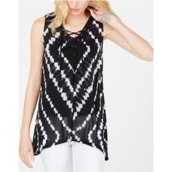 INC Womens Black Printed Sleeveless V Neck Trapeze Top Size M (Black - M), Women's(Nylon, Solid) found on Bargain Bro India from Overstock for $11.41