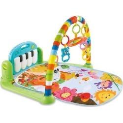 FUWAFUVA Large Baby Game Pad Music Pedal Piano Music Fitness Rack Crawling Mat, Size 19.68 H x 24.8 W x...