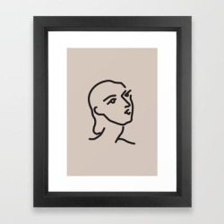 Framed Art Print   Janey - Henri Matisse - Lithograph - Vintage Art Print - Digital Download - Printable Matisse Print by Lyndaloveplace - Vector Black - X-Small-10x12 - Society6
