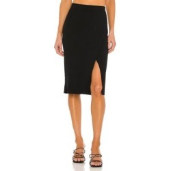 Deep Rib Wrap Skirt - Black - Jonathan Simkhai Skirts found on Bargain Bro Philippines from lyst.com for $295.00