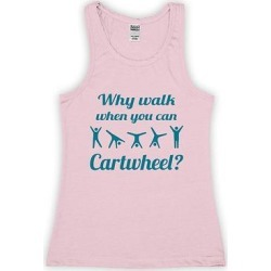 Urban Smalls Girls' Tank Tops Lt - Light Pink 'Why Walk When You Can Cartwheel' Racerback Tank - Toddler & Girls found on Bargain Bro from zulily.com for USD $9.11