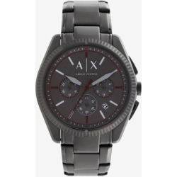 Chronograph Gunmetal Stainless Steel Watch - Metallic - Armani Exchange Watches found on Bargain Bro India from lyst.com for $230.00