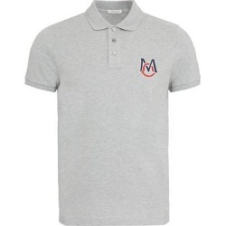 Stretch Cotton Piqué Polo Shirt - Gray - Moncler T-Shirts found on Bargain Bro from lyst.com for USD $292.60
