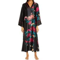 Chrysanthemum Satin Nightgown - Black - Natori Nightwear found on MODAPINS from lyst.com for USD $180.00