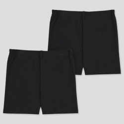 UNIQLO Girl's Dry Undershorts (Set Of 2), Black, 3-4Y found on Bargain Bro India from Uniqlo for $7.90
