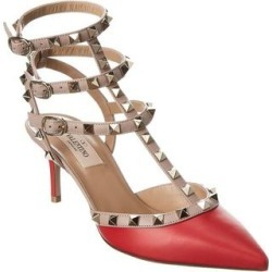 Valentino Rockstud Caged 65 Leather Ankle Strap Pump found on Bargain Bro from Overstock for USD $615.59