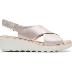 Clarks Women's Sandals Metallic - Metallic Jillian Jewel Leather Sandal - Women found on Bargain Bro from zulily.com for USD $22.59