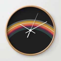 Wall Clock | One Day - Prismatic by Urban Wild Studio Supply - Natural - White - Society6 found on Bargain Bro from Society6 for USD $19.45