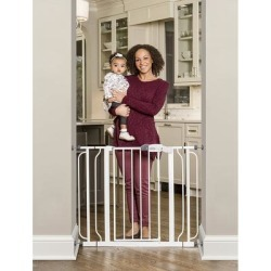 Easy Step Extra-wide Metal Walk-thru Gate (Easy Step Metal Walk-Thru Extra Wide gate), White, Regalo found on Bargain Bro Philippines from Overstock for $49.49
