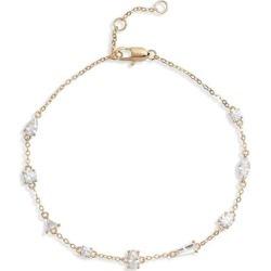 Cubic Zirconia Station Bracelet - Metallic - Nordstrom Bracelets found on Bargain Bro from lyst.com for USD $44.84