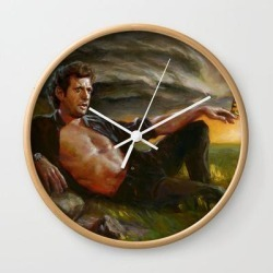 Wall Clock | Ian Malcolm: From Chaos by John Larriva - Natural - White - Society6 found on Bargain Bro India from Society6 for $22.39