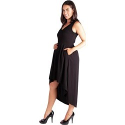 24/7 Comfort Apparel High Low Maternity Little Black Dress with Pocket found on Bargain Bro Philippines from Overstock for $36.97