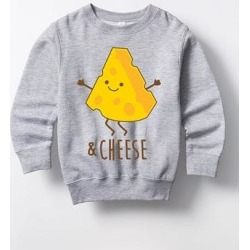Instant Message Girls' Sweatshirts and Hoodies ATHLETIC - Athletic Heather '& Cheese' Crewneck Sweatshirt - Toddler & Girls found on Bargain Bro from zulily.com for USD $13.67