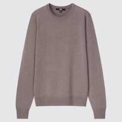UNIQLO Women's Extra Fine Merino Crew Neck Sweater, Brown, XXL found on Bargain Bro Philippines from Uniqlo for $39.90