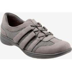 Women's Joy Sneaker by Trotters in Grey Combo (Size 12 M) found on Bargain Bro India from Woman Within for $84.99