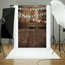 East Urban Home Vinyl Wood Wall Floor Photography Studio Prop Background 3X5ft C in Black/Brown, Size 59.0 H x 35.4 W in | Wayfair found on Bargain Bro Philippines from Wayfair for $13.99