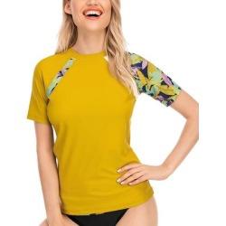 Huge Sports Women's Rashguards Yellow - Yellow Quick-Dry Short-Sleeve Rashguard - Women found on Bargain Bro Philippines from zulily.com for $19.99
