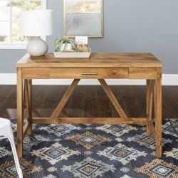 The Gray Barn Paradise Hill 46-inch A-Frame Writing Desk (Barnwood) found on Bargain Bro from Overstock for USD $129.94