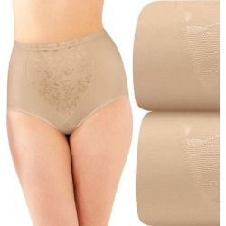 Bali 2-Pack Firm Control Tummy Panel Shaping Briefs X710, Women's, Size: XL, Med Brown found on Bargain Bro from Kohl's for USD $18.08