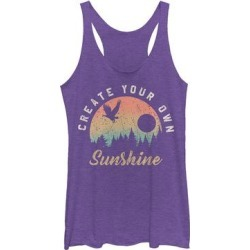 Fifth Sun Women's Tank Tops PUR - Purple Heather 'Create Your Own Sunshine' Racerback Tank - Women found on Bargain Bro from zulily.com for USD $11.39