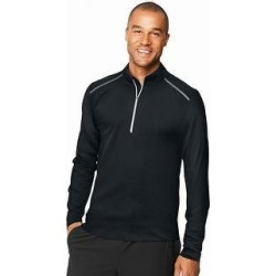 Hanes Sport Men's Performance Quarter-Zip Sweatshirt (Black - S) found on Bargain Bro from Overstock for USD $22.35