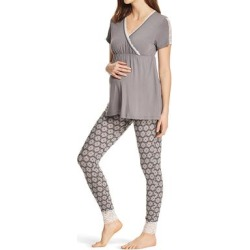 Lamaze Maternity Intimates Women's Sleep Bottoms charcoal - Charcoal Lace Trim Maternity/Nursing Pajama Set found on Bargain Bro India from zulily.com for $18.99