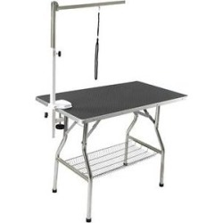 Flying Pig Grooming Heavy Duty Dog & Cat Grooming Table with Arm, Large, Black