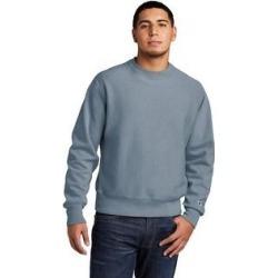 Champion Men's Reverse Weave Fleece Crewneck Sweatshirt (S - Saltwater), Gray found on Bargain Bro Philippines from Overstock for $52.49