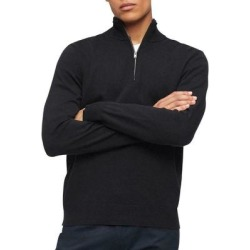 Calvin Klein Mens Sweater Black Size 2XL 1/2 Zip Mock Neck Ribbed (2XL), Men's(cotton) found on Bargain Bro Philippines from Overstock for $38.98